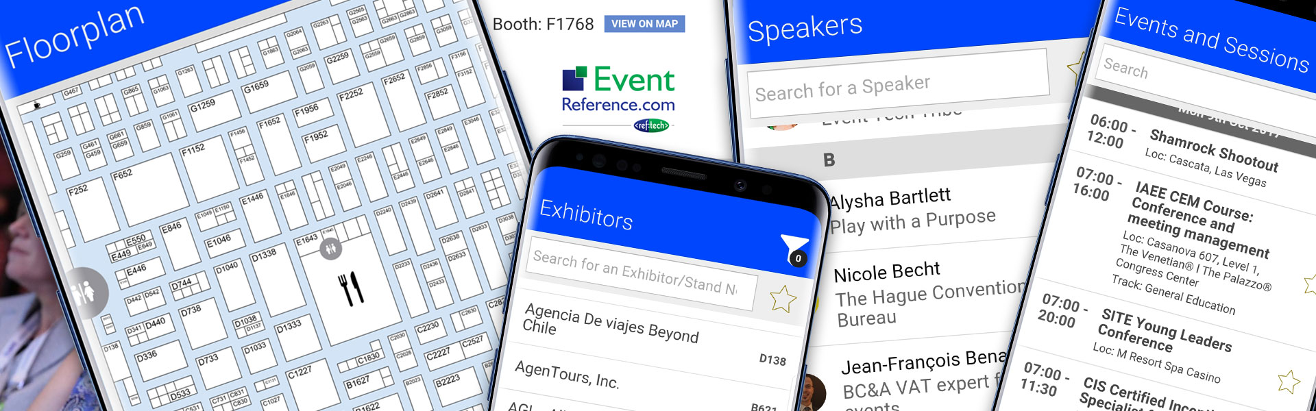 Get your attendees fully engaged by offering them an EventReference Event App from RefTech