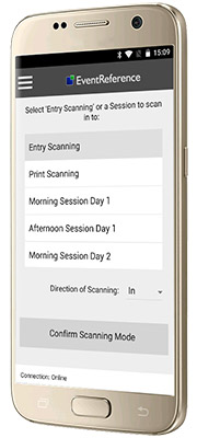 Session Scanning, WebScanning, WebBadging, EventReference, Badges, Scanners, Attendance Reporting, reports, attendance, conference, scanning app, app, android app, attended, event, conference